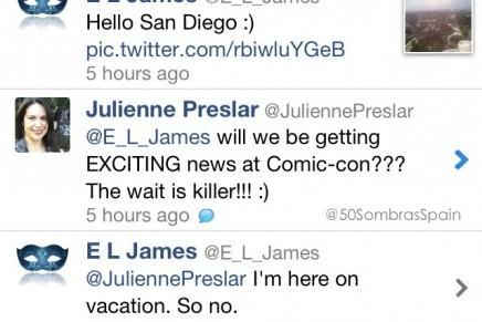 E.L. James en Comic Con 2013 ¿avances en el casting?