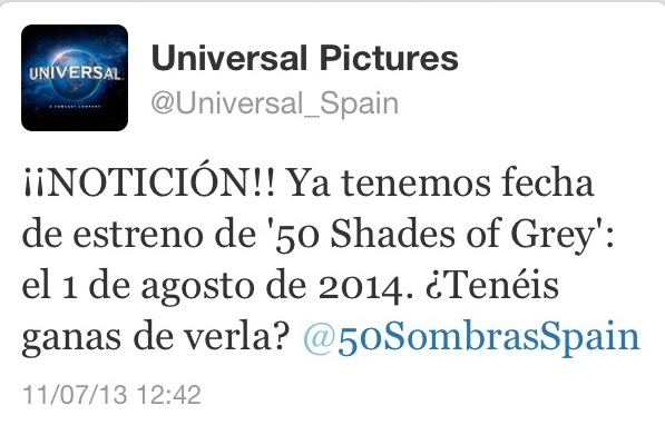Estreno peli 50 Sombras España