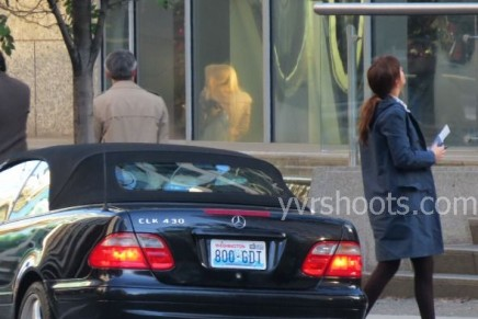 Fotos rodaje 8 diciembre: Anastasia llega a las oficinas de Christian Grey
