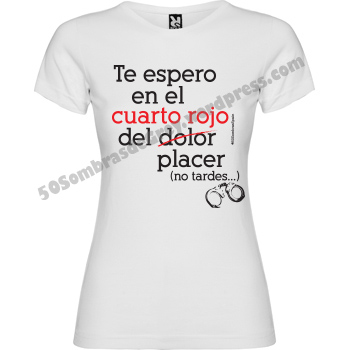 Camiseta mujer 50sombras cuarto rojo 50 sombras spain for Cuarto rojo 50 sombras