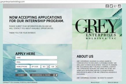 Anuncio del Programa de prácticas en Grey Enterprises Holdings, Inc.