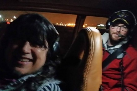 Rodaje 28 de enero: cazar el amanecer en el planeador y Charlie Tango