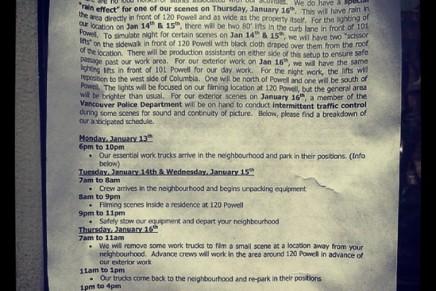 Cuaderno de rodaje 14 y 15 de enero y Rita Ora en Vancouver