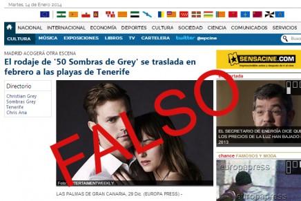 La película 50 Sombras NO se rodará en Tenerife