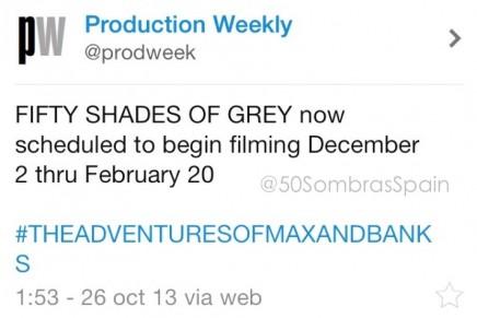 Nuevos detalles de la película 50 Sombras de Grey