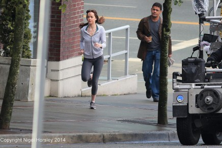 Rodaje 14 de febrero: Anastasia corriendo