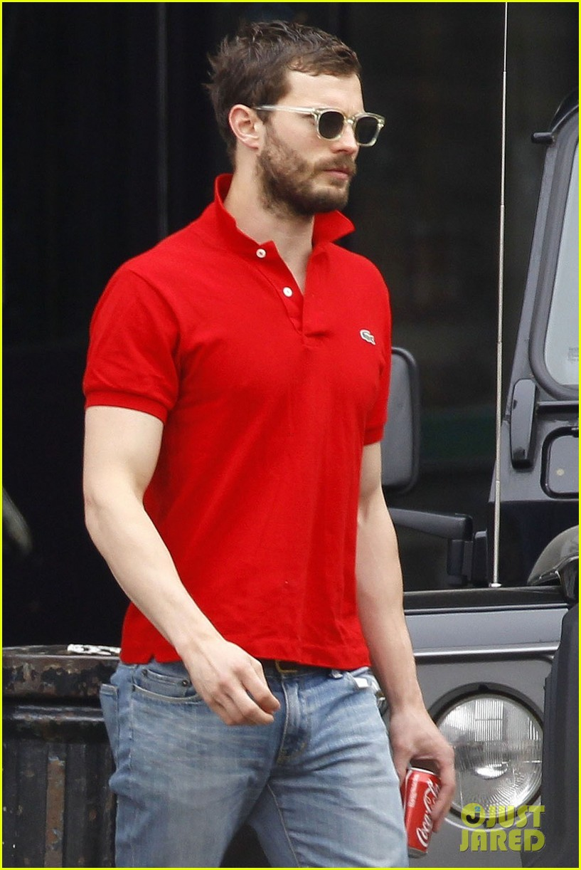 Exclusive... Jamie Dornan Lunches With His Wife In London