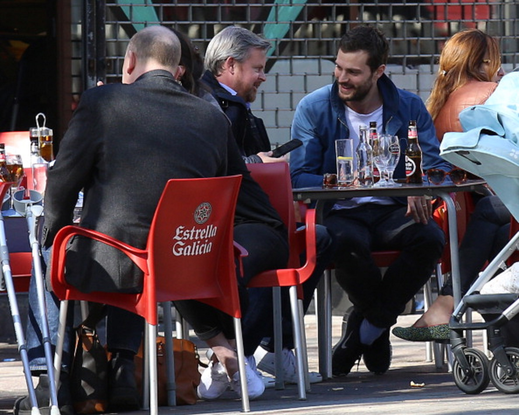 Jamie Dornan And Amelia Warner Sightings In London - April 15, 2014