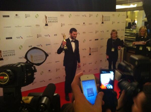 Jamie Dornan premio IFTA 2104 5