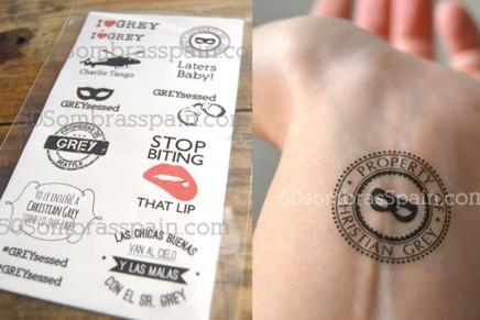 Nuevos tatuajes temporales 50 Sombras de Grey