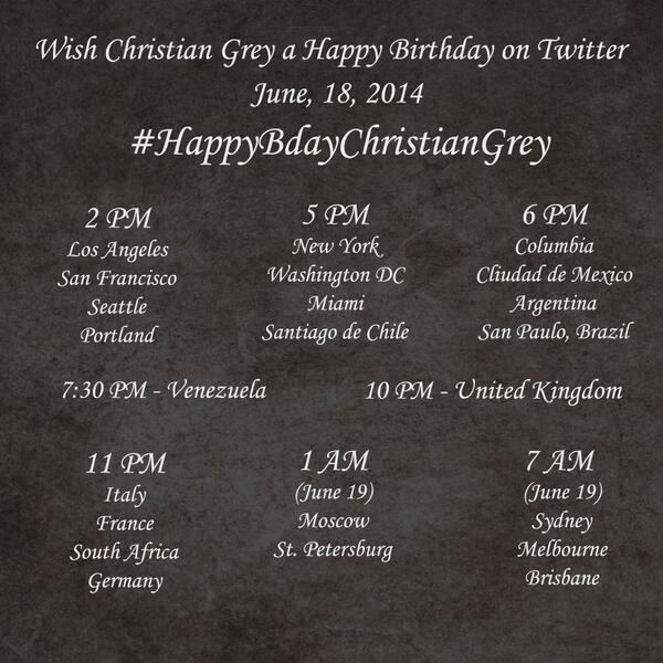 HappyBdayChristian Grey hashtag jun 14