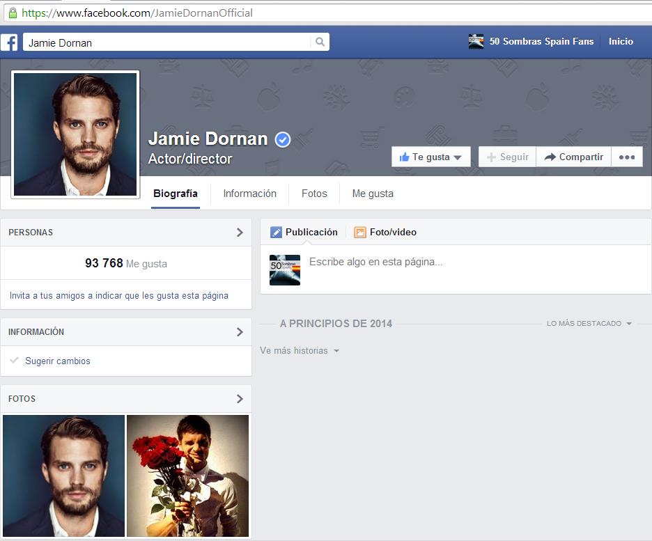 Jamie Dornan facebook