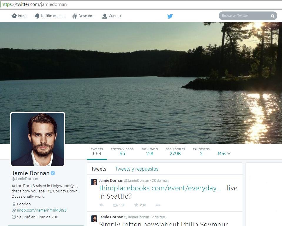 Jamie Dornan twitter