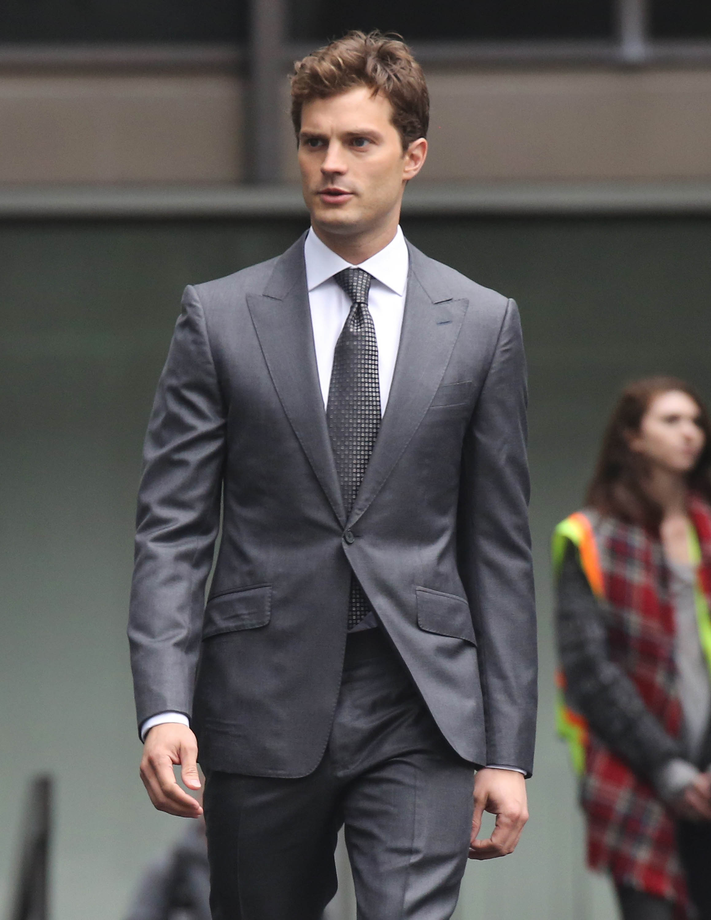 "Jamie Dornan Films ""Fifty Shades Of Grey"" Reshoots"