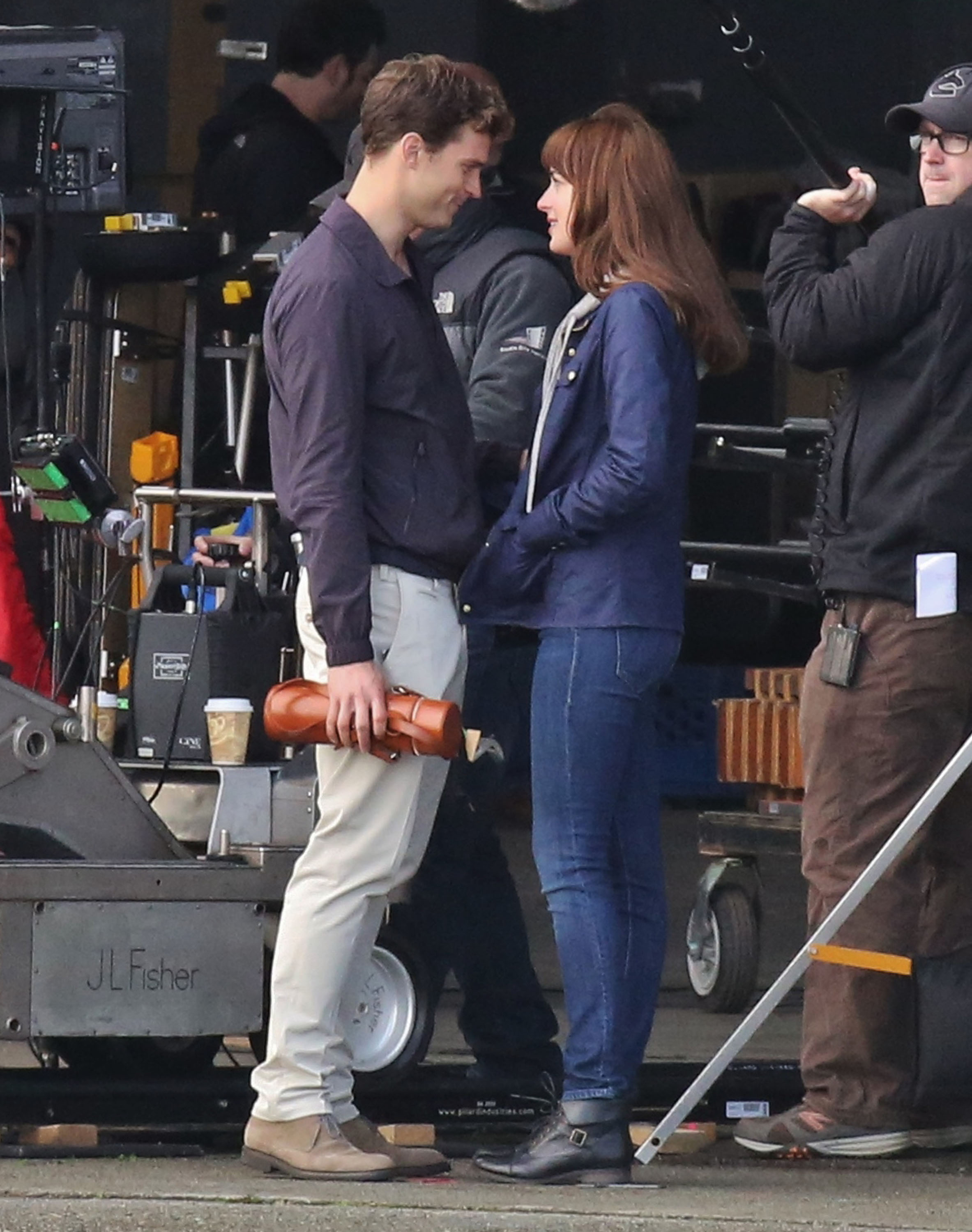 "Stars Film ""Fifty Shades Of Grey"" Reshoots"