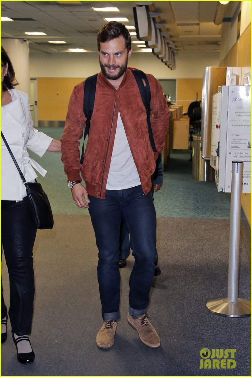Jamie Dornan arrives back in Vancouver for 'Fifty Shades of Grey' re-shoots