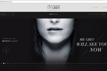 La web oficial Fifty Shades Movie totalmente renovada