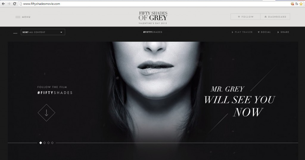 Nueva web Fifty Shades Movie 50 Sombras