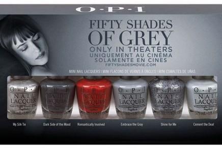 Edición limitada de esmaltes de uñas O.P.I. inspirada en 50 Sombras de Grey