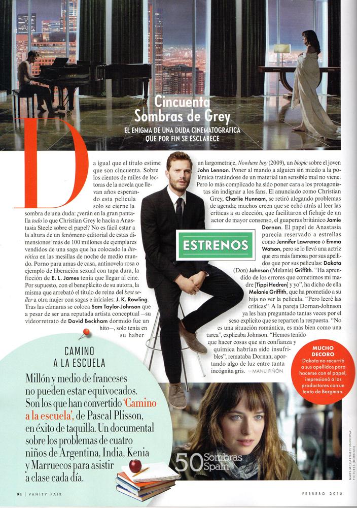 50 Sombras Vanity Fair España febrero 15