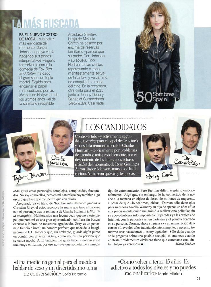 Reportaje 50 sombras en la revista vogue espa a febrero - 50 sombras de grey en espana ...