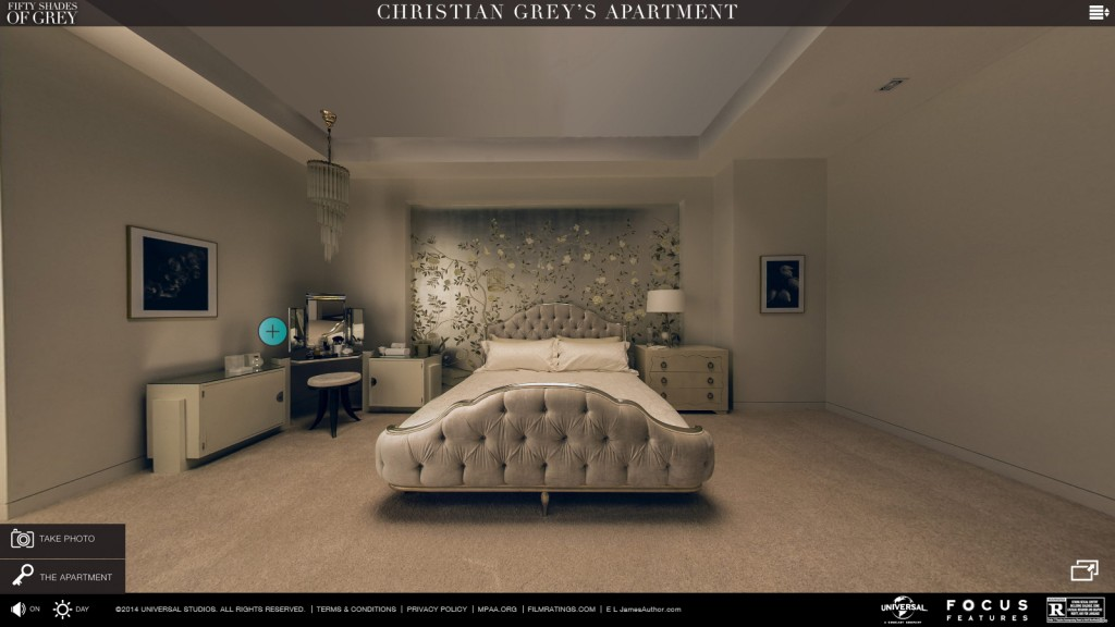 Visita virtual al apartamento de christian grey con for Cuarto rojo 50 sombras de grey