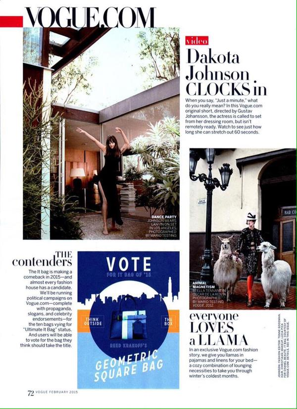 Dakota Johnson 50 Sombras Vogue feb 15 21