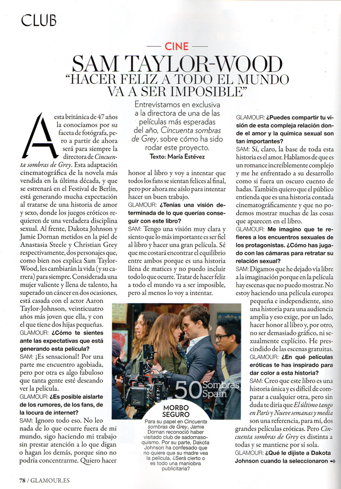 Sam Taylor Johnson 50 Sombras Glamour feb 15 1