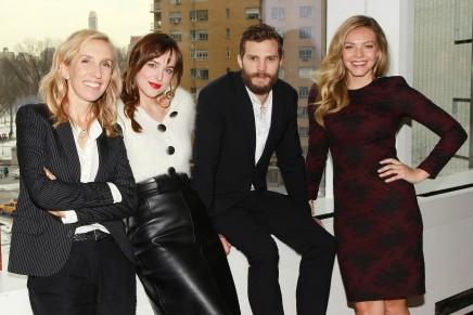 Dakota, Jamie, Eloise, Sam y Aaron antes del estreno en NY