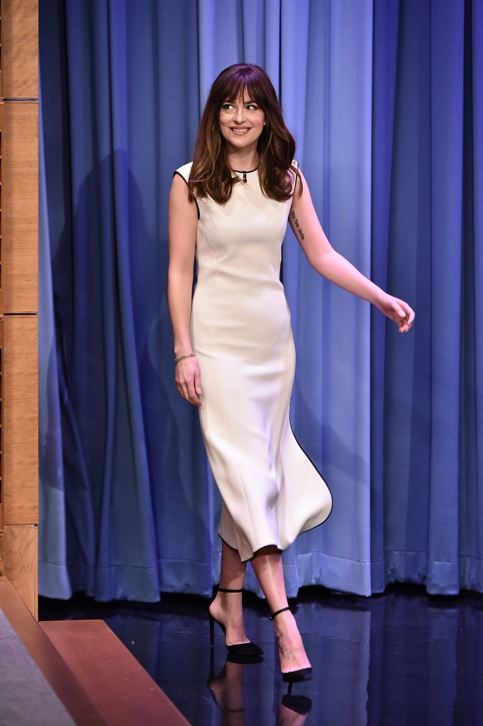 "Dakota Johnson Visits ""The Tonight Show Starring Jimmy Fallon"""