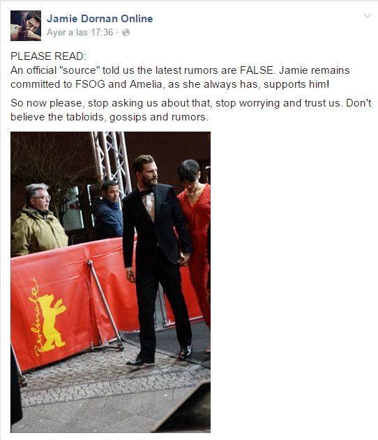 Desmentido Jamie Dornan On line