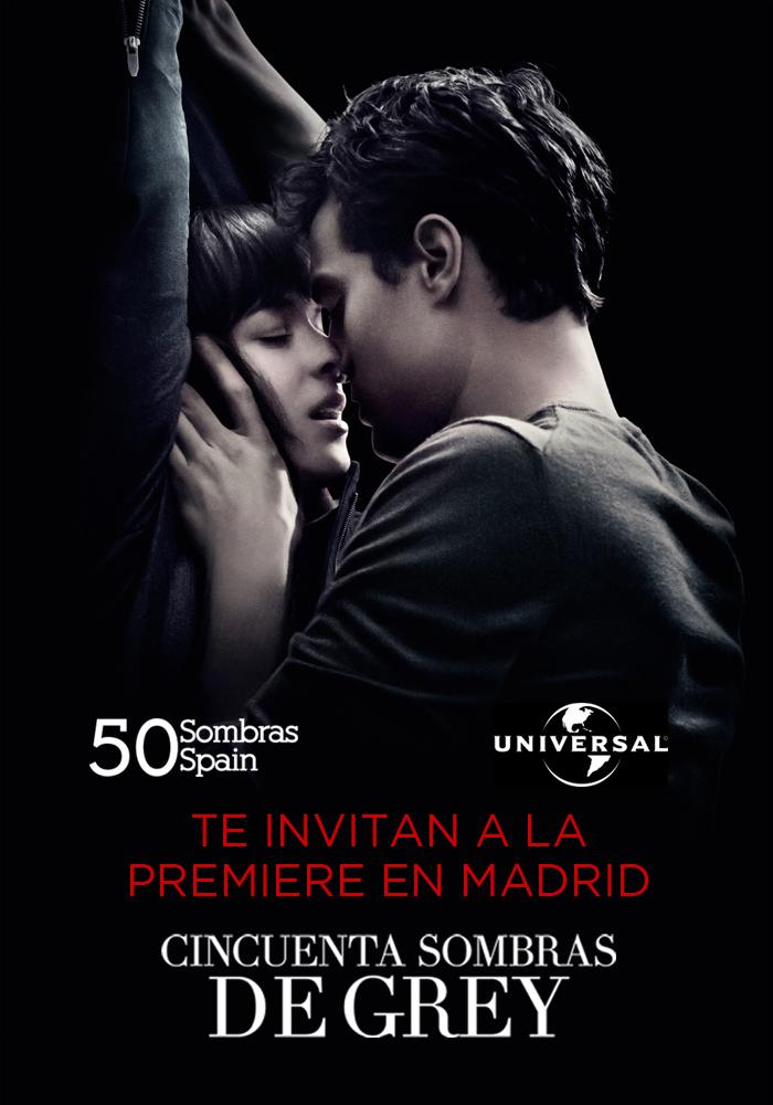 Invitación premiere 50 Sombras Madrid