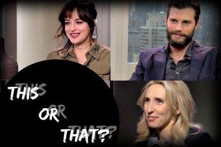 Breve pero divertidísima entrevista a Dakota, Jamie y Sam