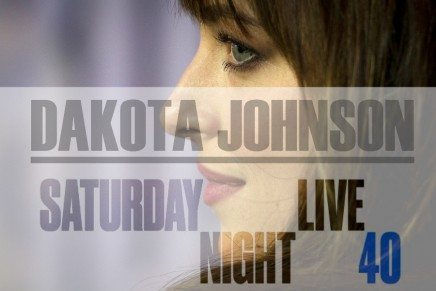 Dakota Johnson en el Programa del 40° Aniversario de Saturday Night Live