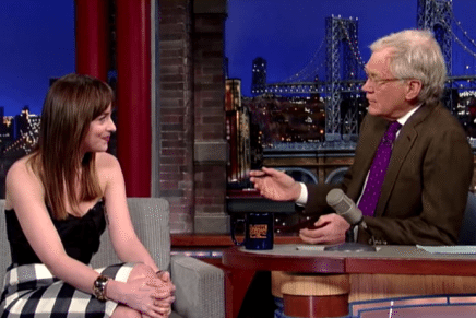 Entrevista de Dakota Johnson en el programa Late Show con David Letterman