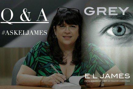 Próximo Q&A de E.L. James sobre GREY