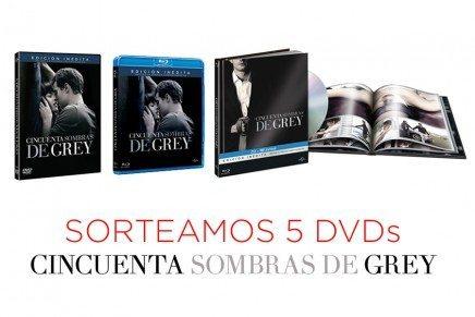 ¡SORTEAMOS 5 DVDs de la película 50 Sombras de Grey!