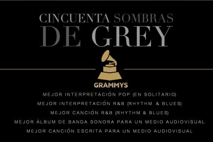 Nominaciones de 50 Sombras de Grey en los GRAMMY 2016
