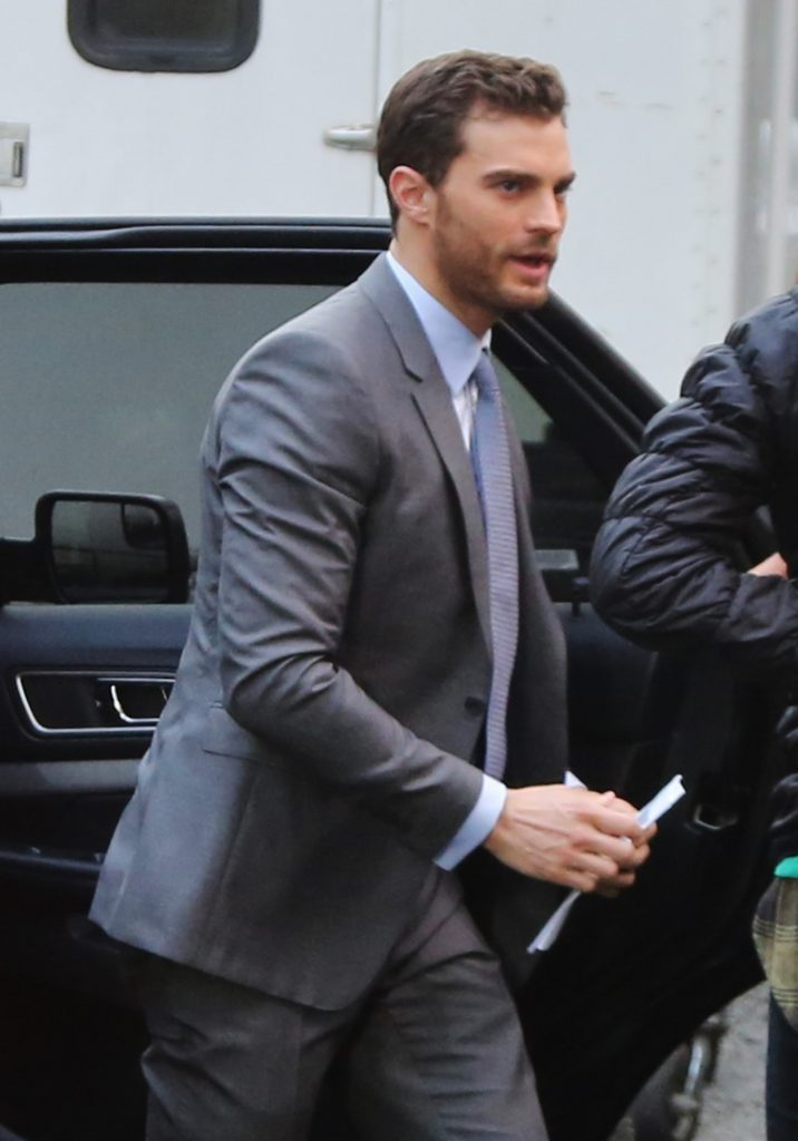Exclusive... 51983660 Actor Jamie Dornan was spotted arriving on set of 'Fifty Shades Darker' in Vancouver, Canada on February 29, 2016. 'Fifty Shades of Grey' topped the Razzies including worst actor, actress, screenplay, screen combo, and worst picture. FameFlynet, Inc - Beverly Hills, CA, USA - +1 (310) 505-9876