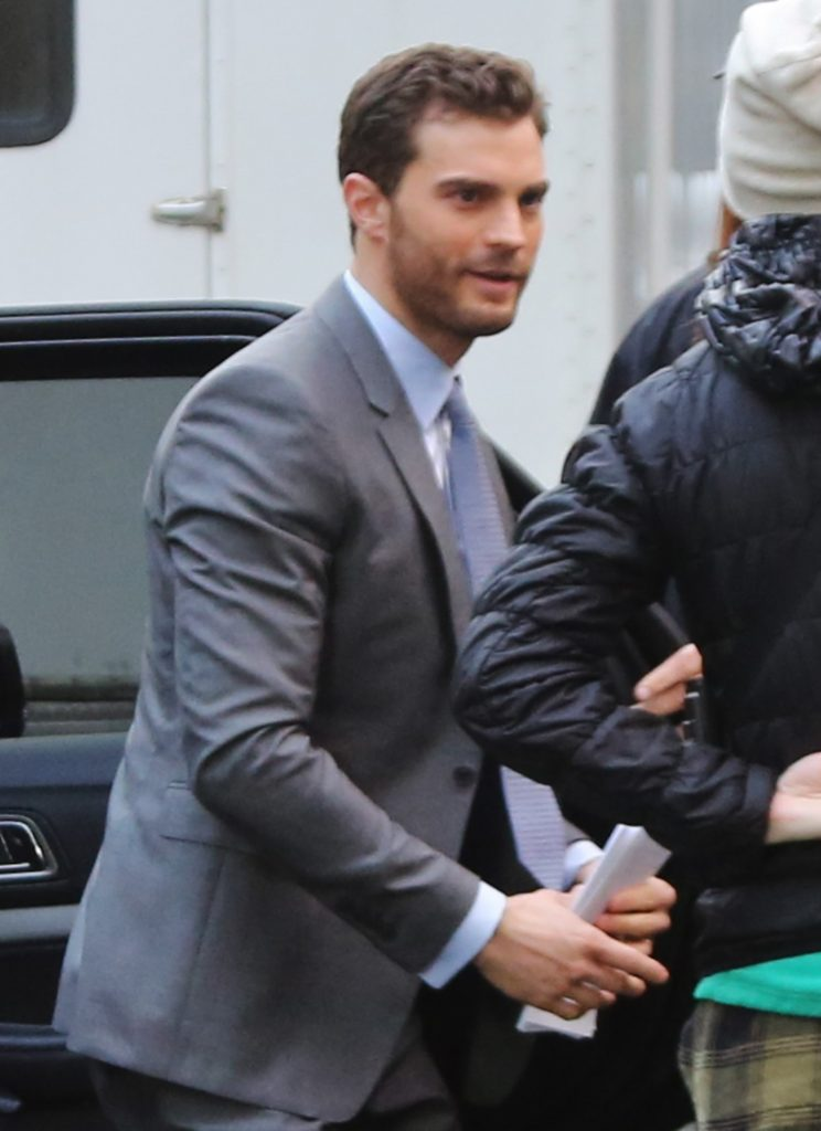 Exclusive... 51983655 Actor Jamie Dornan was spotted arriving on set of 'Fifty Shades Darker' in Vancouver, Canada on February 29, 2016. 'Fifty Shades of Grey' topped the Razzies including worst actor, actress, screenplay, screen combo, and worst picture. FameFlynet, Inc - Beverly Hills, CA, USA - +1 (310) 505-9876