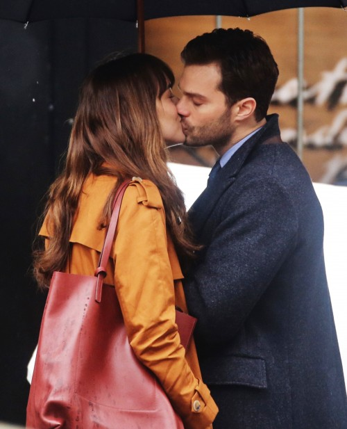 51984650 Stars are spotted on the set of 'Fifty Shades Darker' in Vancouver, Canada on March 01, 2016. This is the first scene Dakota Johnson and Jamie Dornan have shot together and already they're turning up the heat with some steamy on-screen kissing. Stars are spotted on the set of 'Fifty Shades Darker' in Vancouver, Canada on March 01, 2016. This is the first scene Dakota Johnson and Jamie Dornan have shot together and already they're turning up the heat with some steamy on-screen kissing. FameFlynet, Inc - Beverly Hills, CA, USA - +1 (310) 505-9876