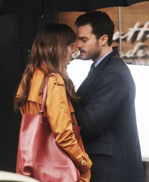 51984651 Stars are spotted on the set of 'Fifty Shades Darker' in Vancouver, Canada on March 01, 2016. This is the first scene Dakota Johnson and Jamie Dornan have shot together and already they're turning up the heat with some steamy on-screen kissing. Stars are spotted on the set of 'Fifty Shades Darker' in Vancouver, Canada on March 01, 2016. This is the first scene Dakota Johnson and Jamie Dornan have shot together and already they're turning up the heat with some steamy on-screen kissing. FameFlynet, Inc - Beverly Hills, CA, USA - +1 (310) 505-9876