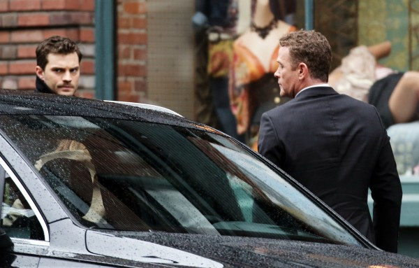 51987569 Stars spotted on the set of 'Fifty Shades Darker' in Vancouver, Canada on March 04, 2016. Stars spotted on the set of 'Fifty Shades Darker' in Vancouver, Canada on March 04, 2016. Pictured: Jamie Dornan, Max Martini FameFlynet, Inc - Beverly Hills, CA, USA - +1 (310) 505-9876