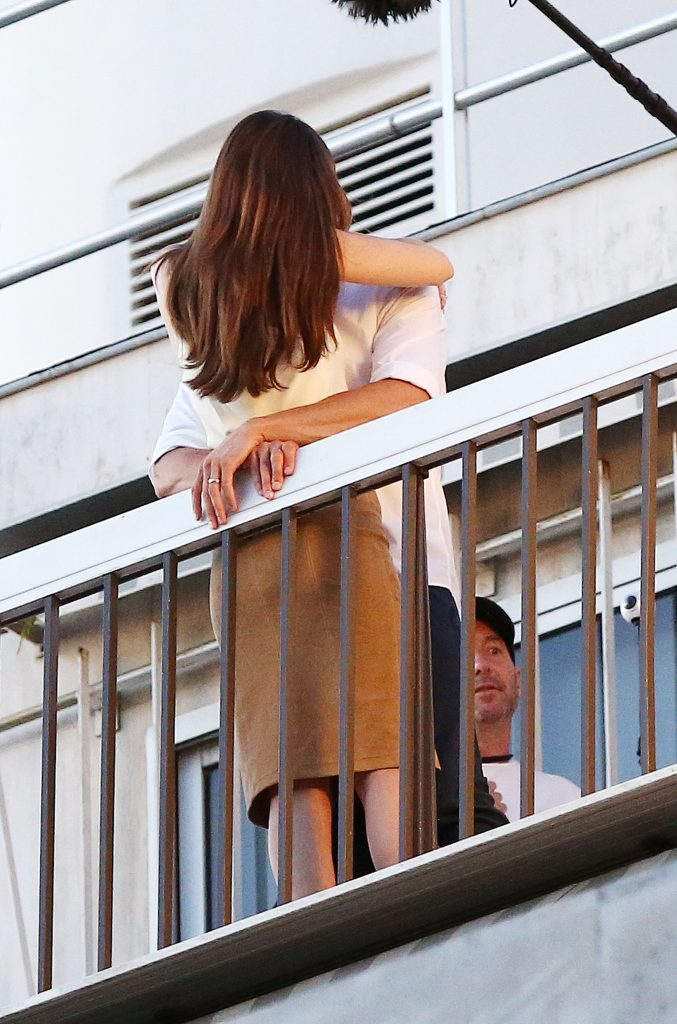 Actors Jamie Dornan and actress Dakota Johnson on the set 50 shades of grey in Paris, France.