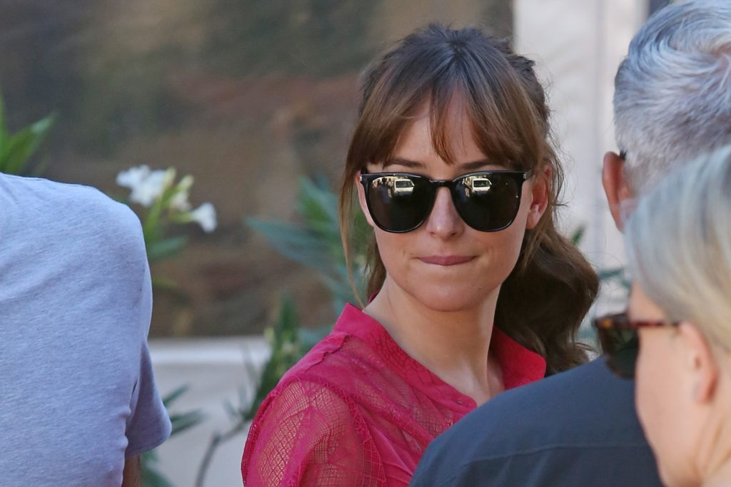 *EXCLUSIVE* Dakota Johnson arrives at '50 Shades Freed' set with sister Stella Banderas