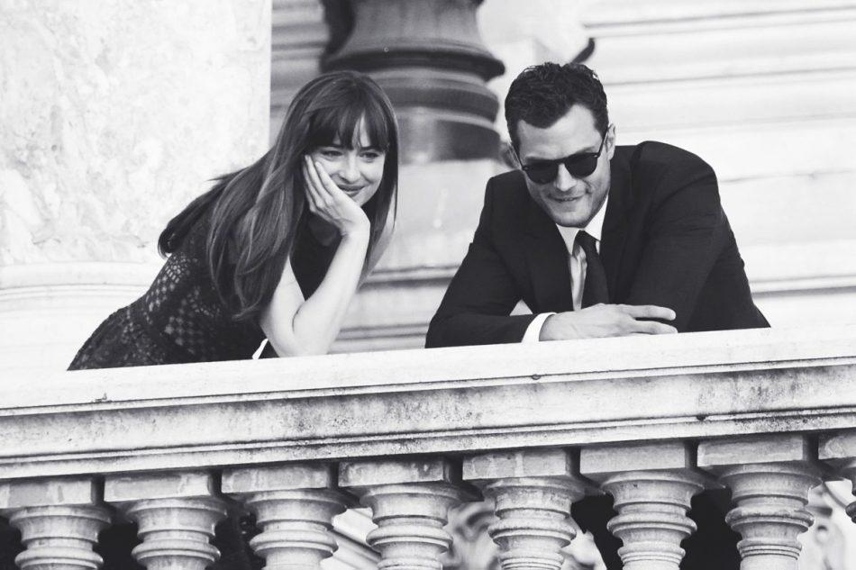 Rodaje en París: Christian y Anastasia en la ópera ¡con muchos fans!