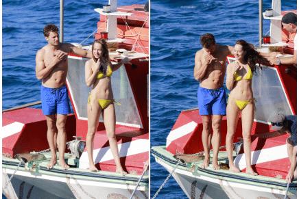 Rodaje del 13 de julio: ¡Christian y Anastasia en el yate y baño en el mar!