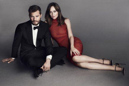 ¡Primeras imágenes de Jamie y Dakota para la promoción de 50 Sombras Más Oscuras!