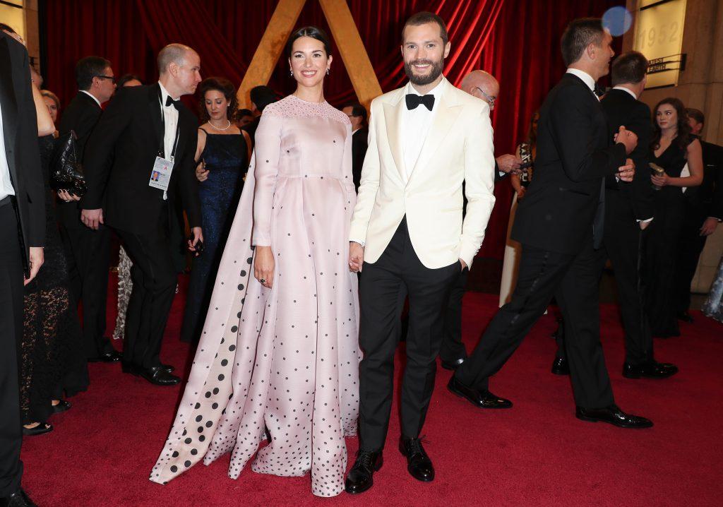 Jamie Dornan Amelia Warner Oscars 2017