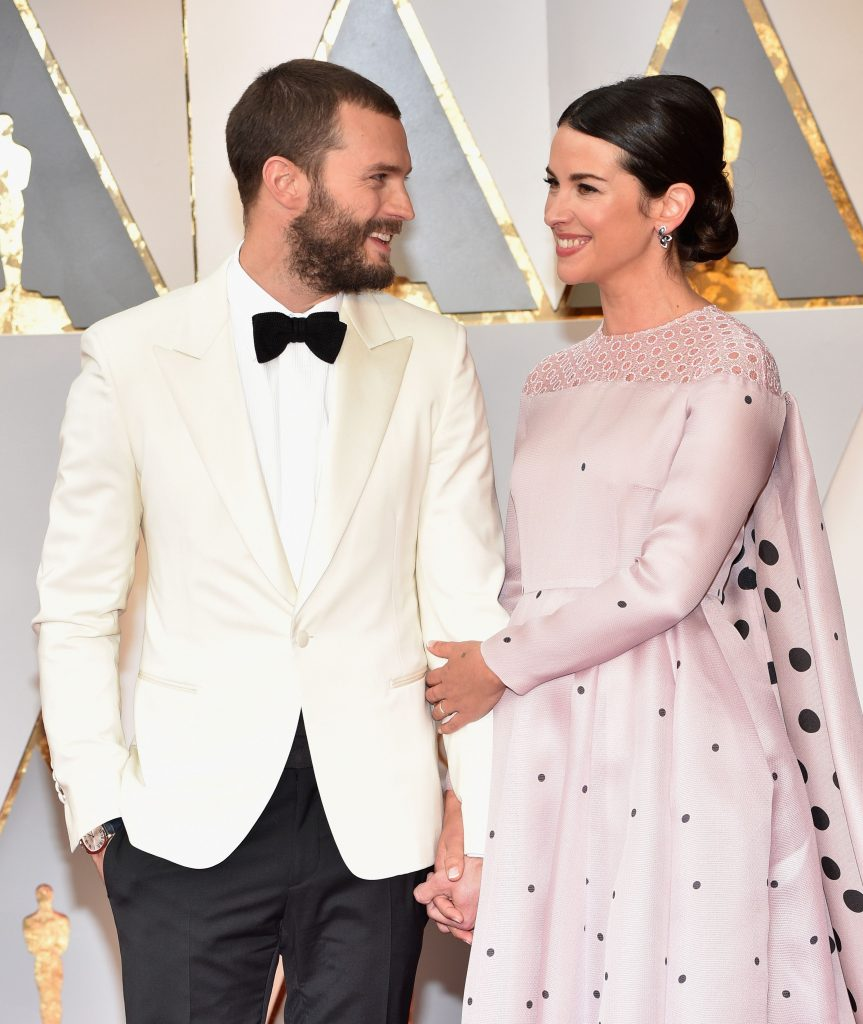 Jamie Dornan Amelia Warner Oscars 2017 2